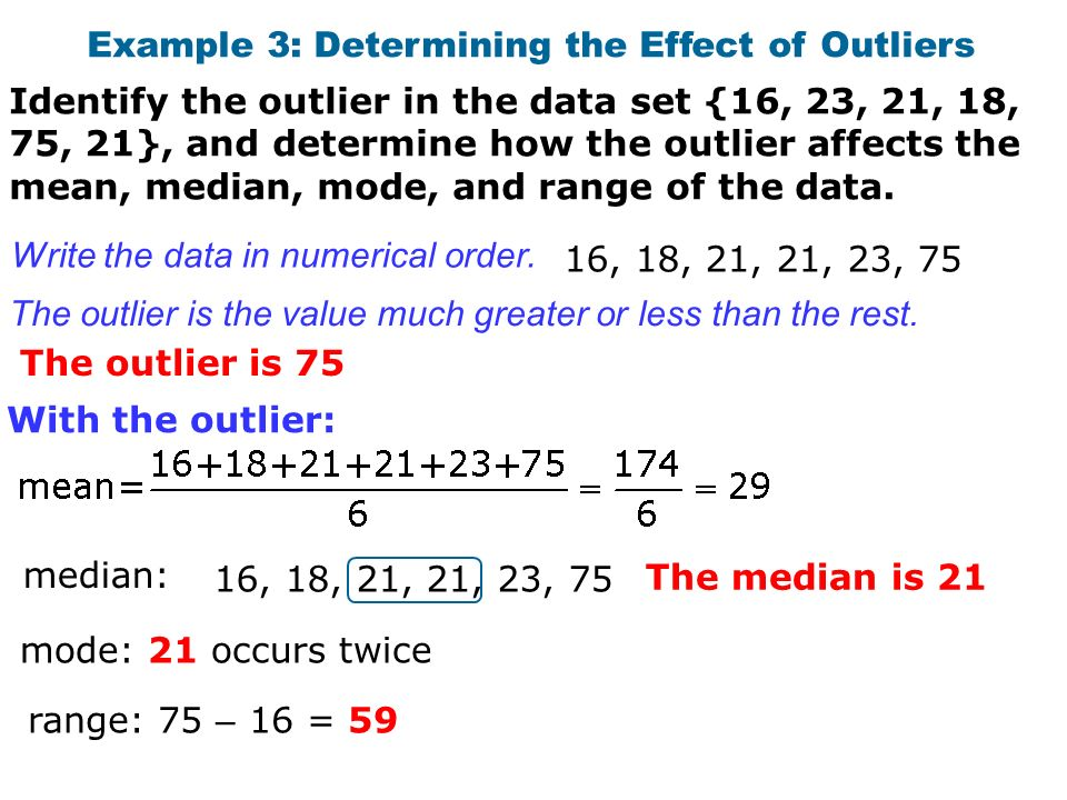 how to use median to find outlier