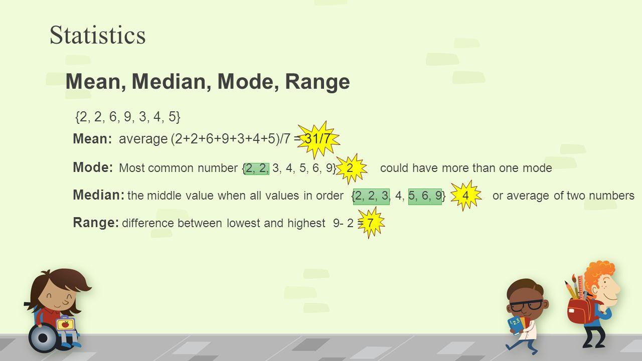statistics mean median mode pdf