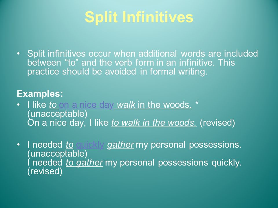 Split Infinitive
