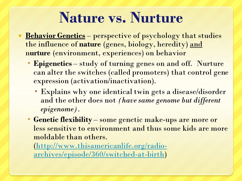 nature vs nurture argument