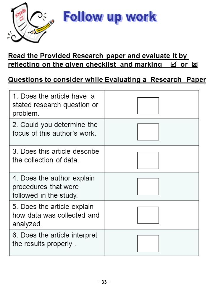 research paper process checklist and rubric Research paper checklist name general: yes / no 1 my paper is ___(# of pages) typed, double spaced, not counting the title page.