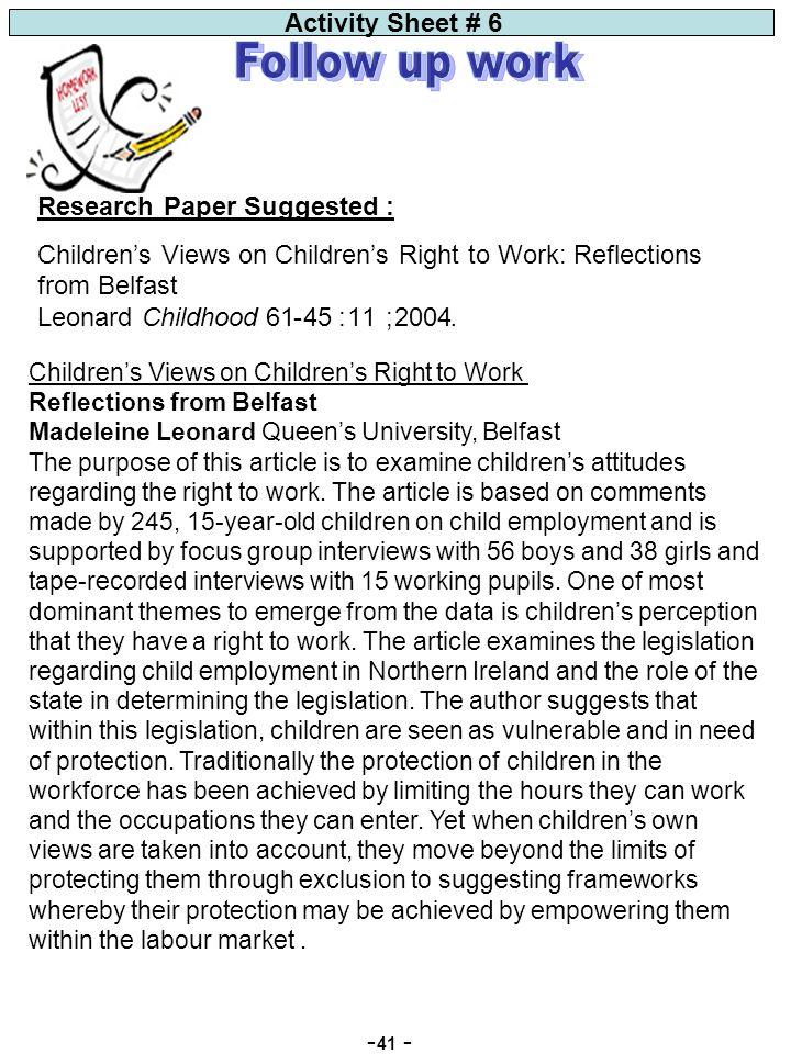 Fantastic Print What Is Child Labor Children Worksheet Quiz Laws ...