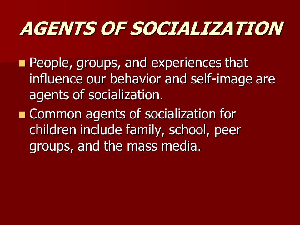 The most influential agent of socialization for children? Essay Sample