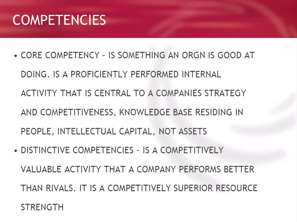 core competencies pepsi Coca-cola with effective advertising, and pepsi with effective young generation   the corporate missions, core competencies and competitive advantage,.
