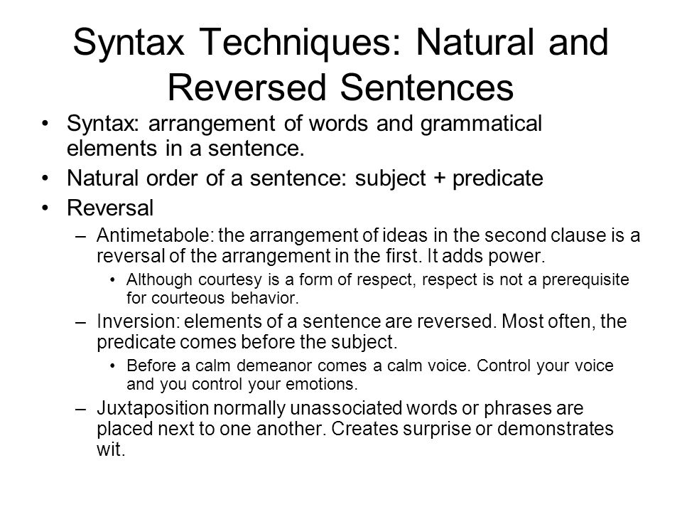 syntax and sentence Test and improve your knowledge of syntax & sentence structure with fun multiple choice exams you can take online with studycom.