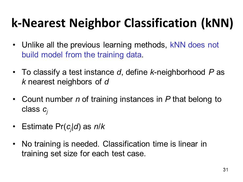 how to choose k in knn