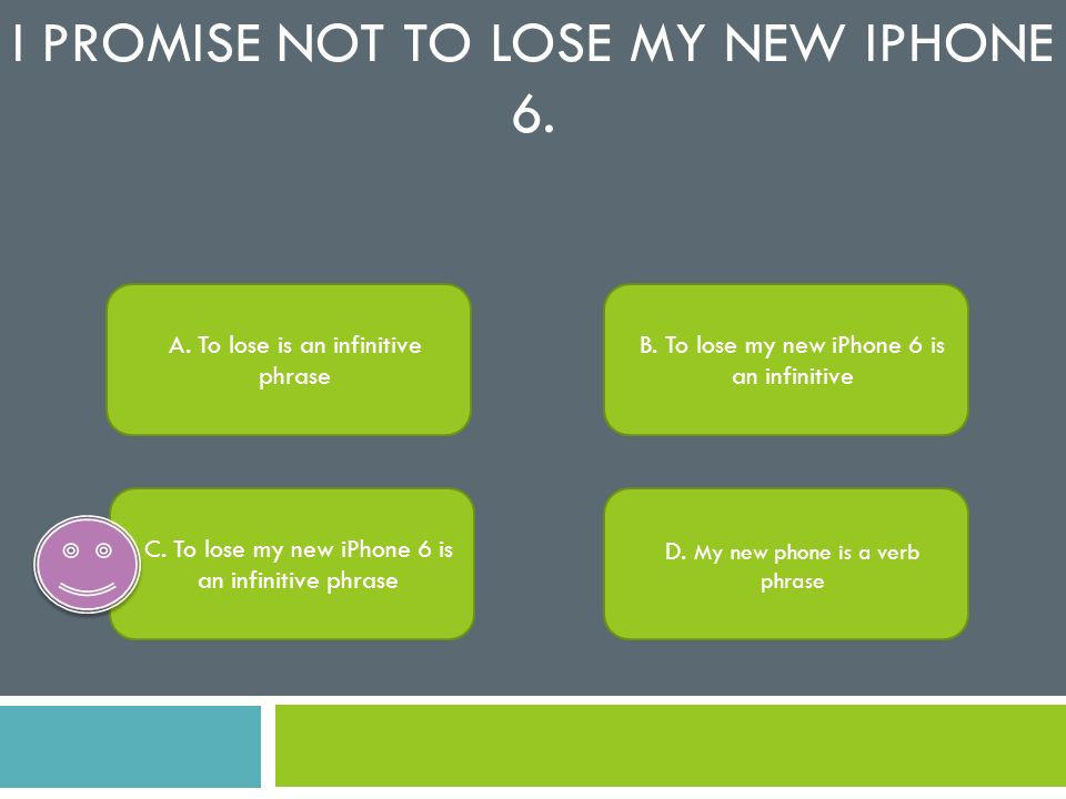I promise not to lose my new iPhone 6.