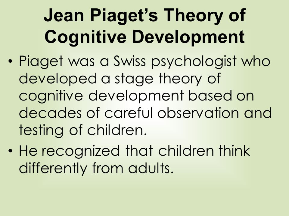 cognitive observation of child 4 years old Example of preschool observation: documentation and analysis approximately 20 other children aged 2-1/2 to 5 years and four cognitive development is.