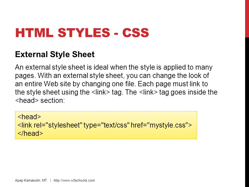 how to use style tag in html