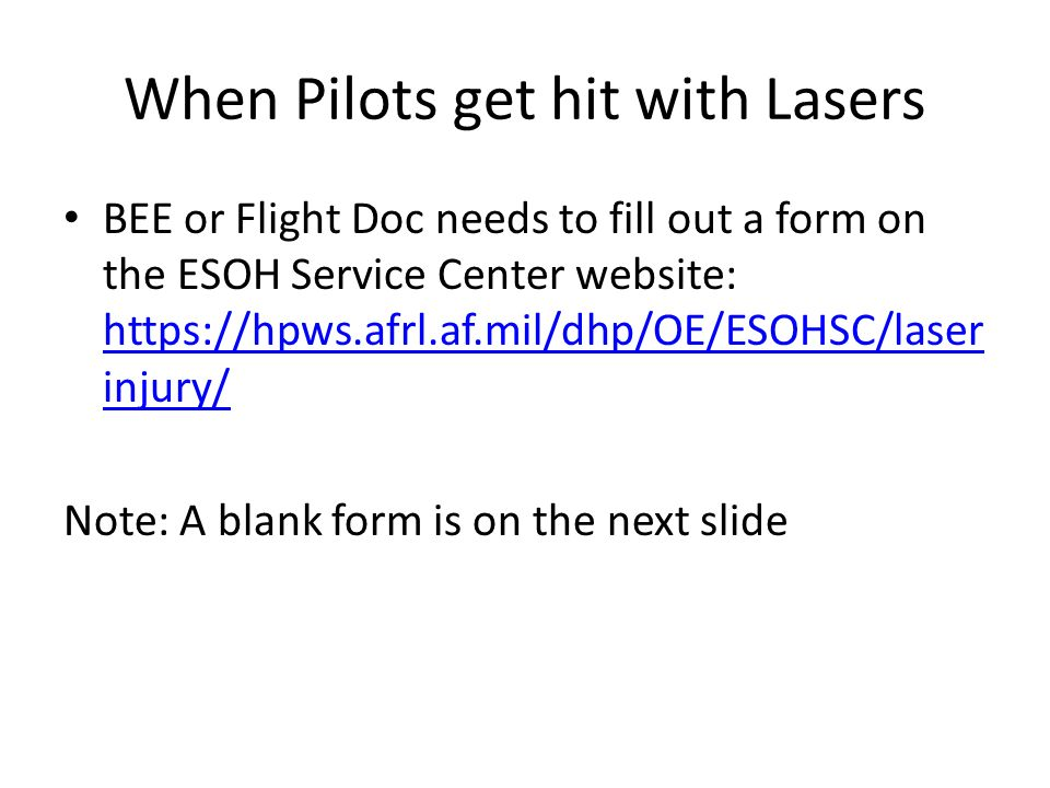 When Pilots get hit with Lasers