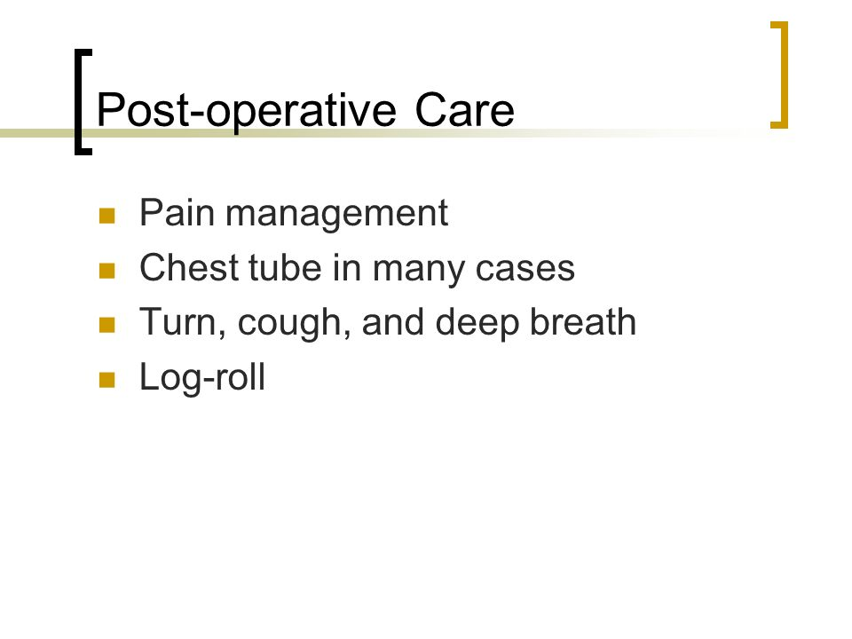 pain management and post operative care case studies Management in the post anesthesia phase of nursing care nursing professionals have an obligation to advocate for their patients' right to effective pain management.