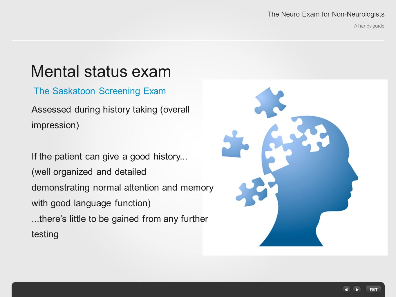 The Neuro Exam for Non-Neurologists A handy guide - ppt ...