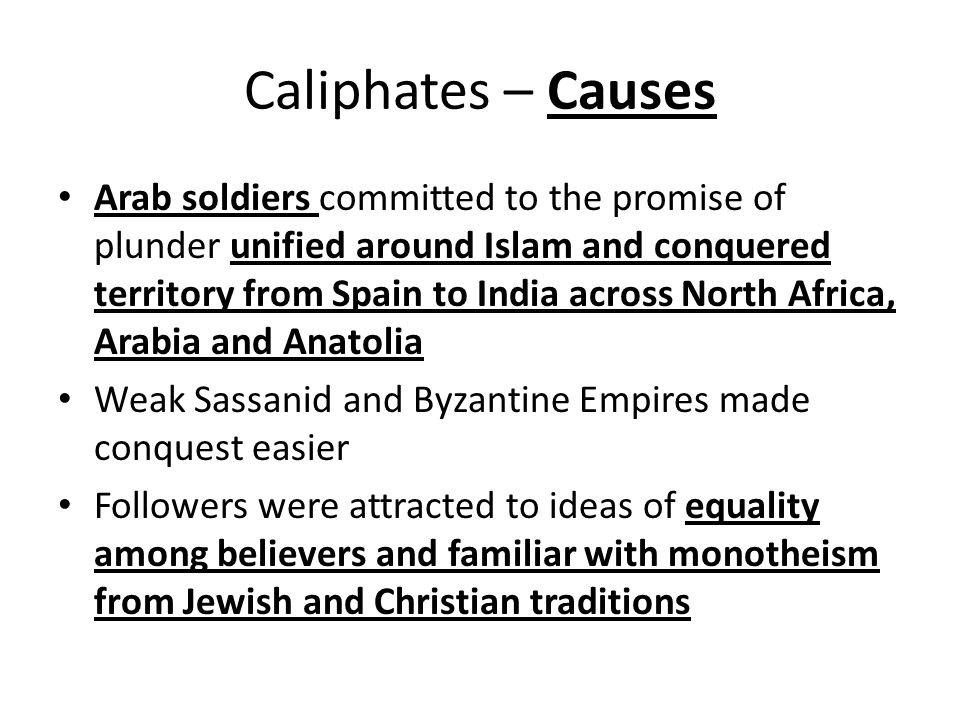Caliphates – Causes