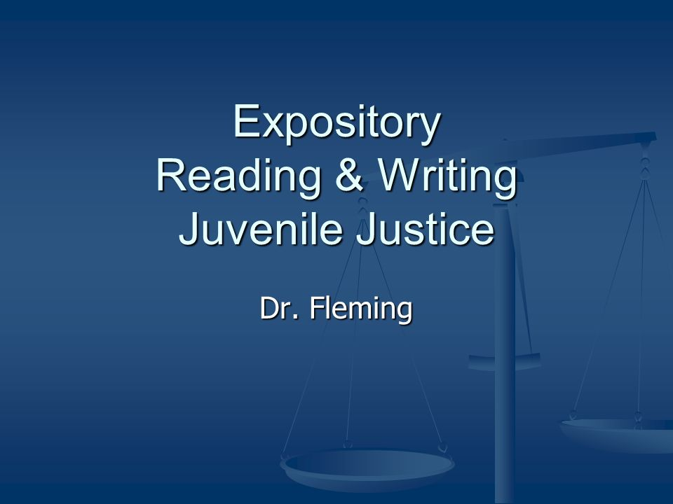 expository essay on juvenile delinquency Below given is an essay example on juvenile crime that you may find useful if   the act of participating in a crime by a minor is considered juvenile delinquency.