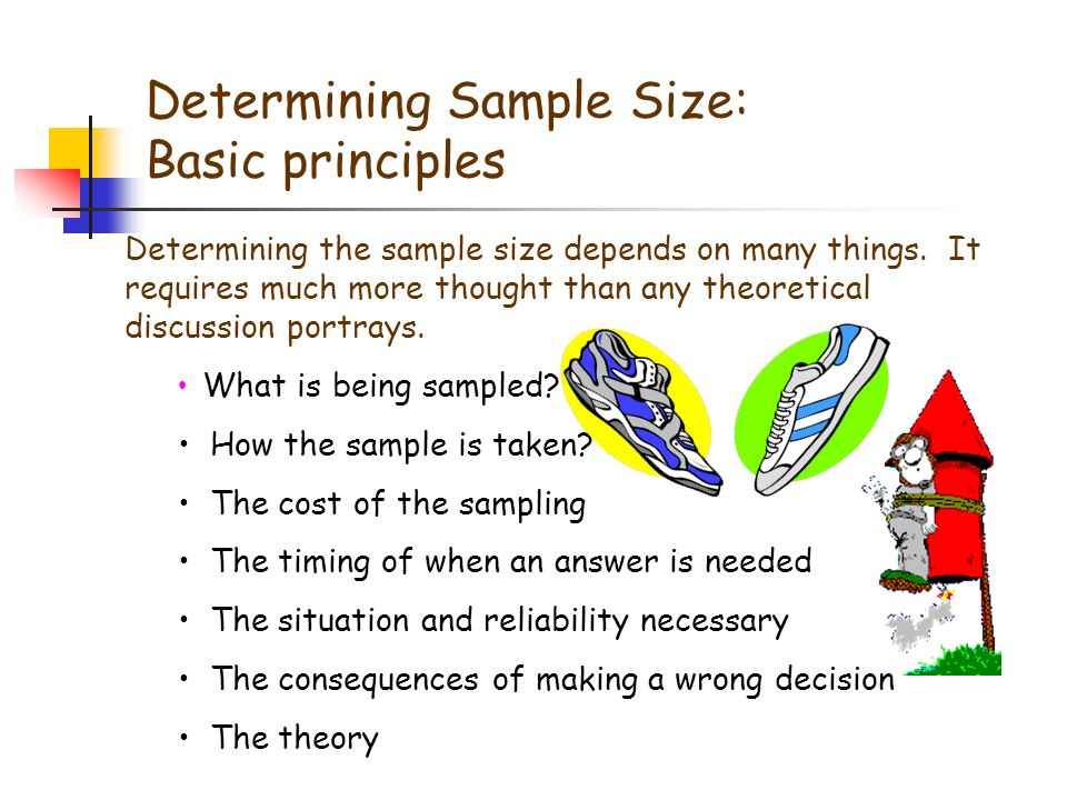 determining sample size essay There are no specific rules when determining an appropriate sample size in qualitative research qualitative sample size may best be determined by the time.
