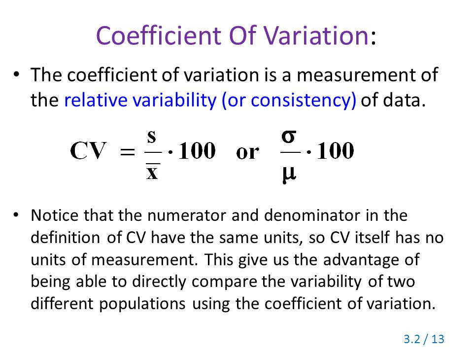 Coefficient of Variation Calculator