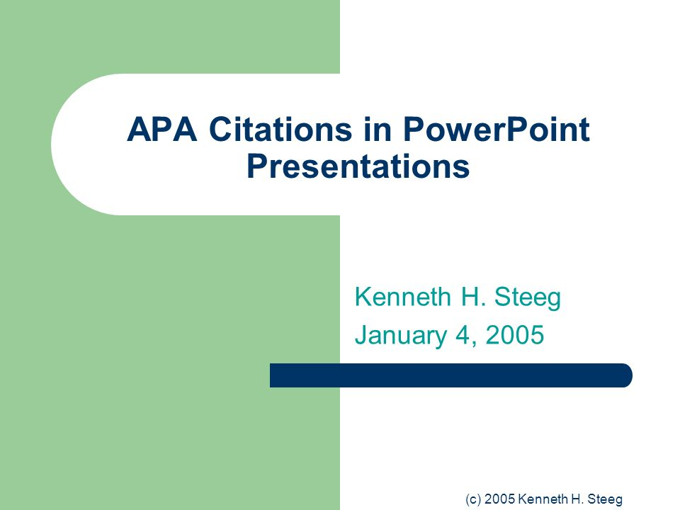 APA Citations in PowerPoint Presentations