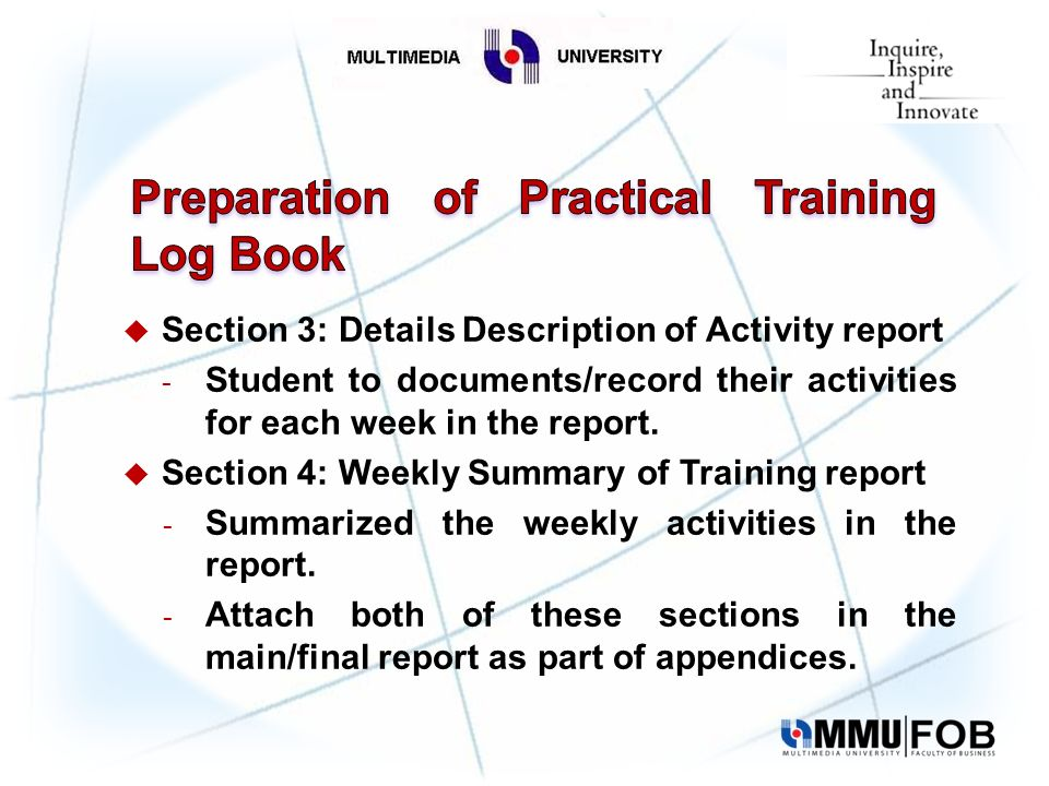 Agenda Introduction Student Log Book Guidelines  Ppt Video Online