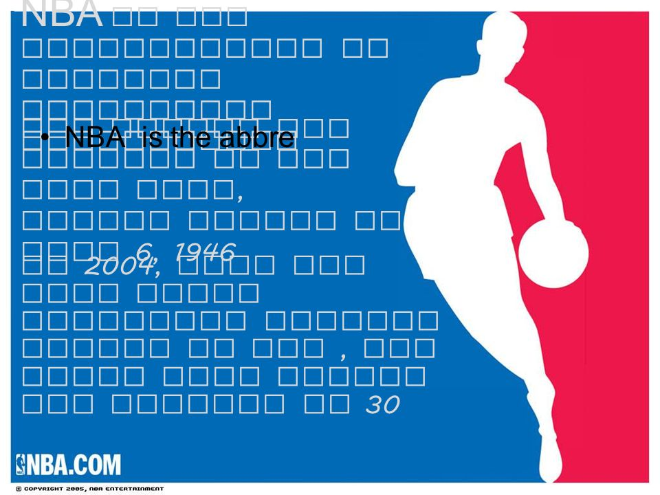NBA Is The Abbreviation Of National Basketball Association