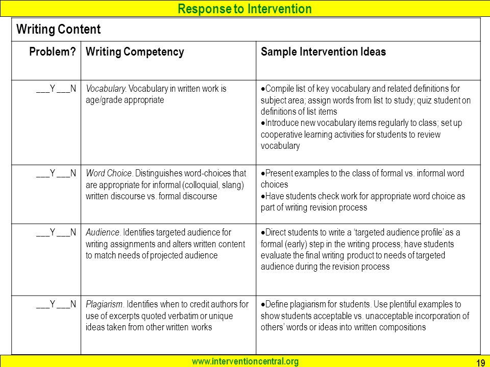 evaluate a stage specific intervention essay How to write an evaluation essay as you state each of your judgments, you need to give reasons to back them up that are specific, interesting, and convincing.
