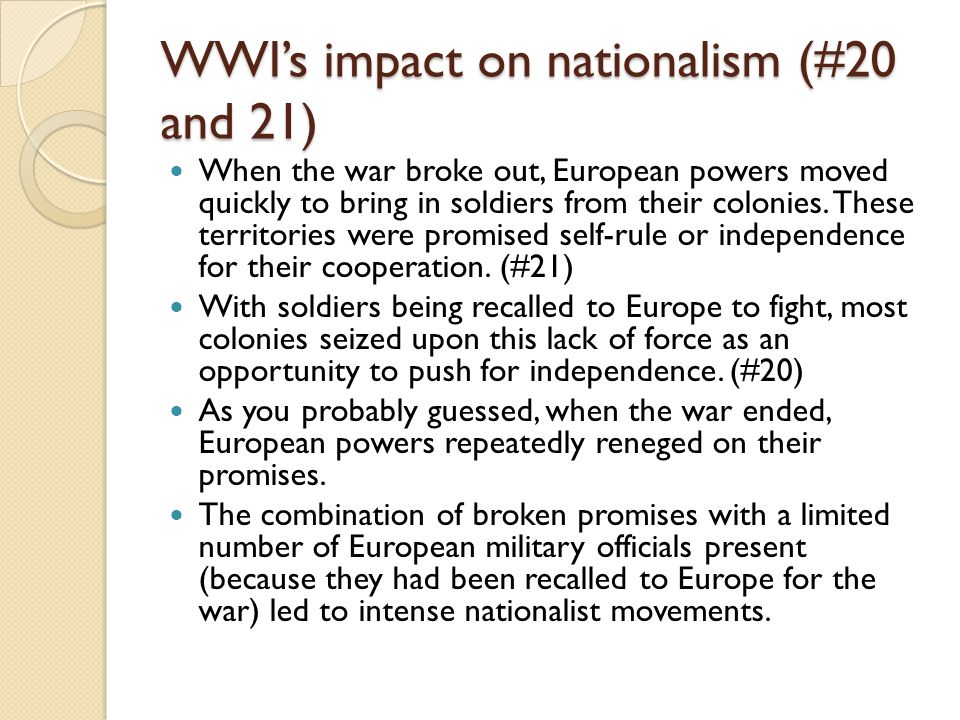 impact of world war i on european society Social impact of world war ii on mainly be situated in europe and be categorized as an european the war had on society was the creation.