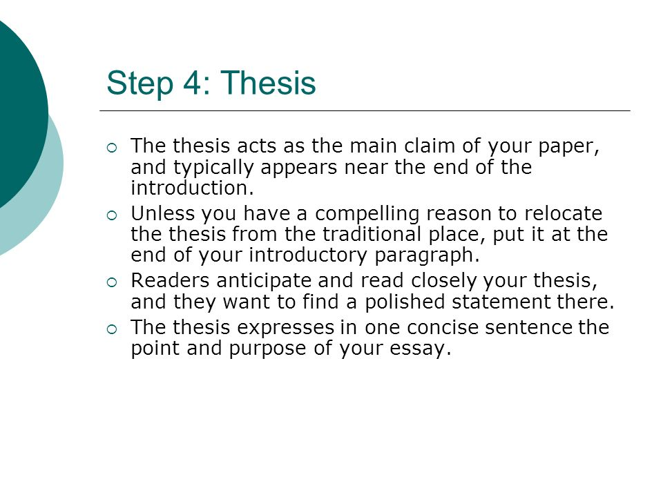 english paper thesis sentence This page is brought to you by the owl at purdue ( ) when printing this page, you must include the entire legal notice at bottom an argumentative or persuasive piece of writing must begin with a debatable thesis or claim in other words, the thesis must be something.