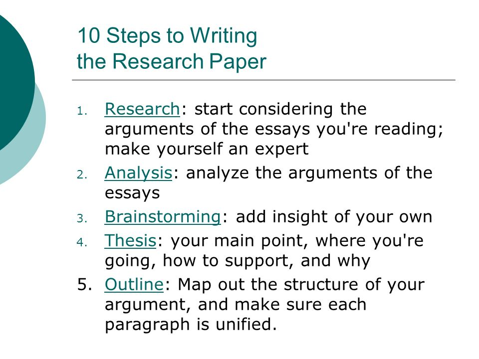 orders the steps of writing an essay