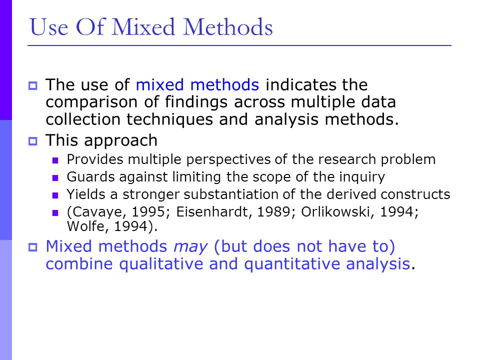 """mixed methods critique I raise some cautionary issues in this paper by critiquing the methodology in the journal article titled """"researching men: the politics and possibilities of a qualitative mixed-methods."""