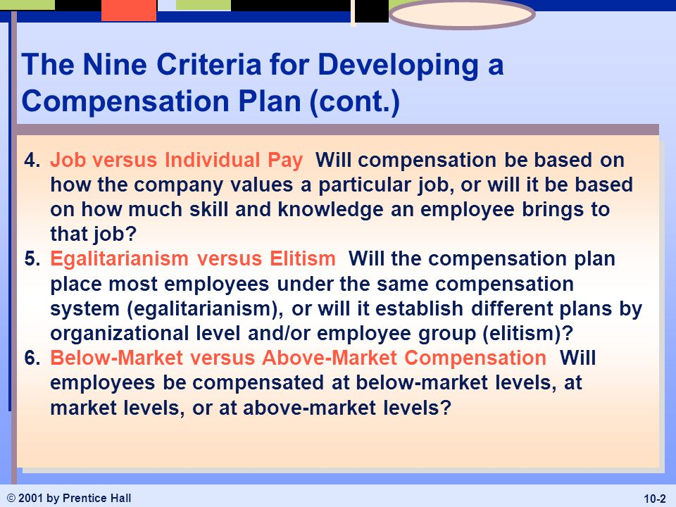 developing compensation strategy Our company is currently developing a compensation philosophy we are in the very beginning stages, so any comments will be helpful specifically, what key considerations should we be researching/looking at.