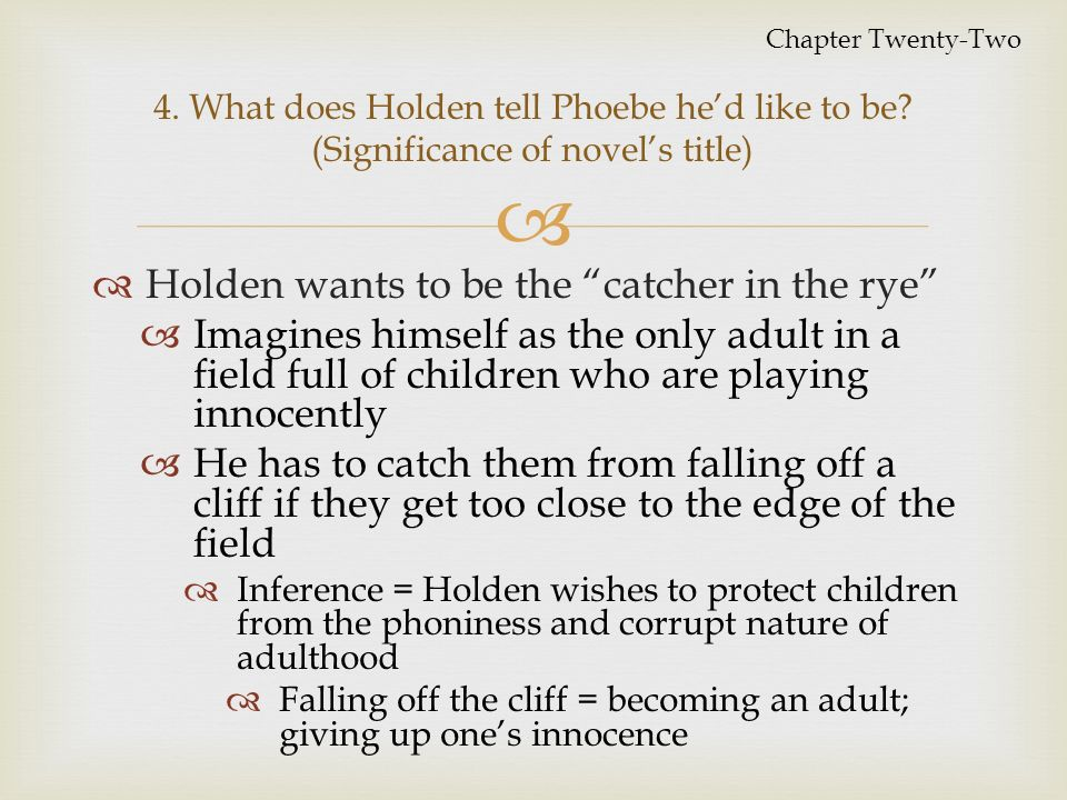 The fall from innocence in the novel the catcher in the rye by jd salinger