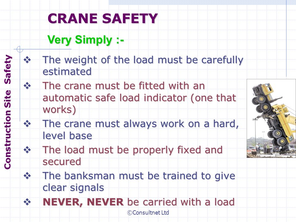 Safe Load Indicator Systems : Construction site safety ppt video online download