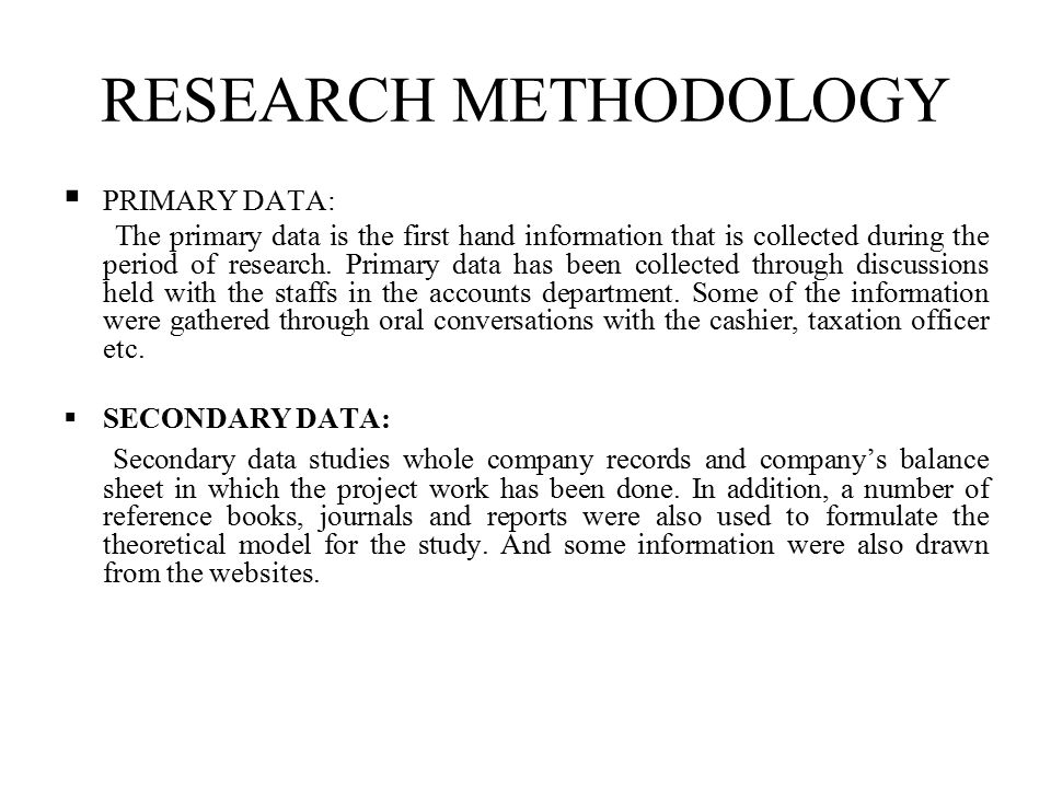 Secondary Data Collection Methods