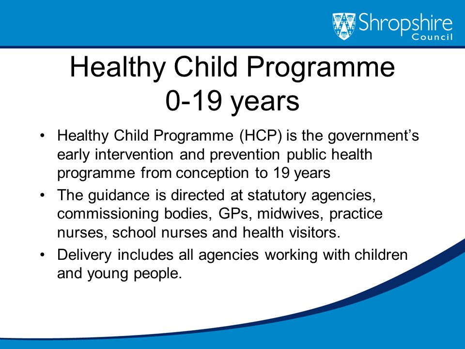 Healthy Child Programme 0-19 years
