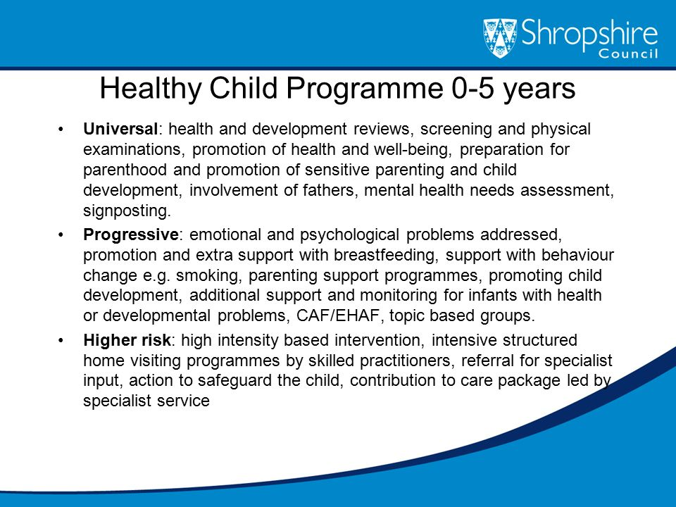 Healthy Child Programme 0-5 years
