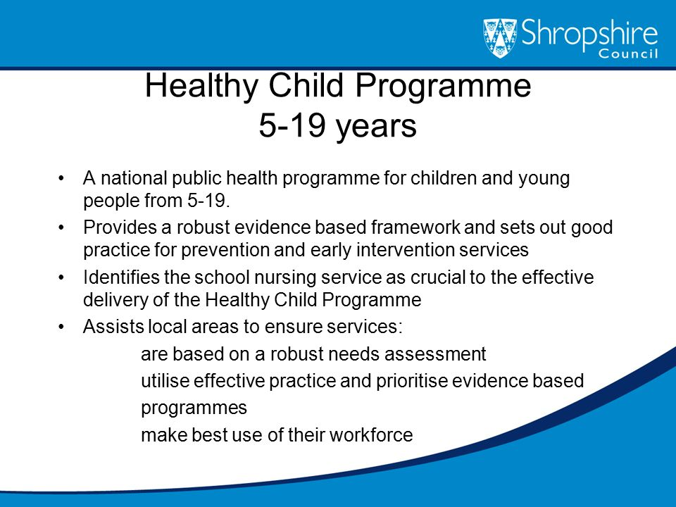 Healthy Child Programme 5-19 years