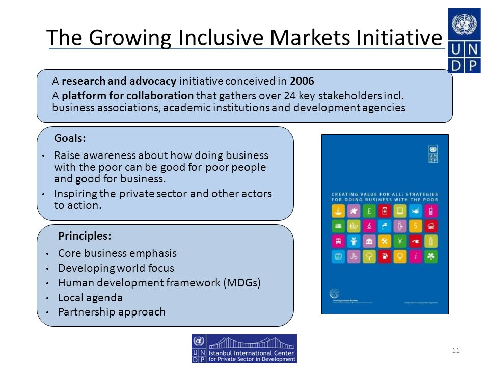 The Growing Inclusive Markets Initiative
