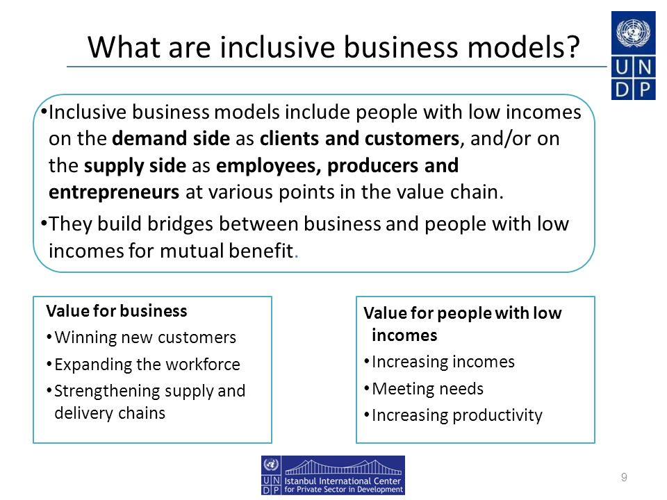 What are inclusive business models