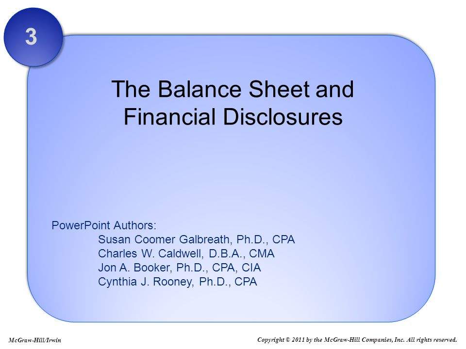 the balance sheet and financial disclosures For many years, the income statement was the dominant financial statement for external decision making earnings per share and revenue recognition were topics of.