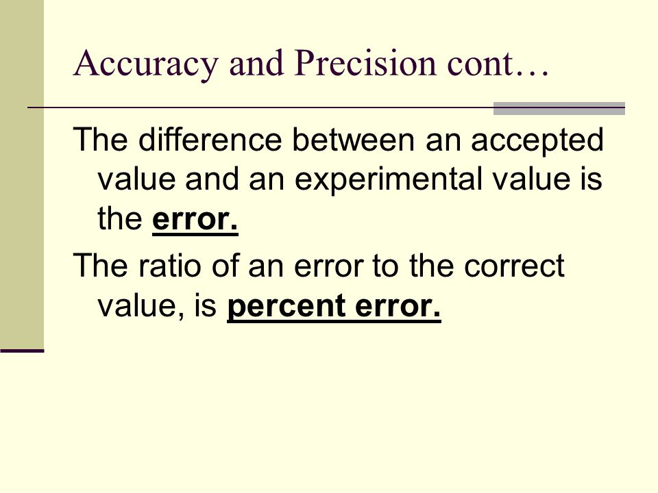 error analysis within an experiment The experimental value is your calculated value, and the theoretical value is your   of your equipment, your own estimations, or a mistake in your experiment.