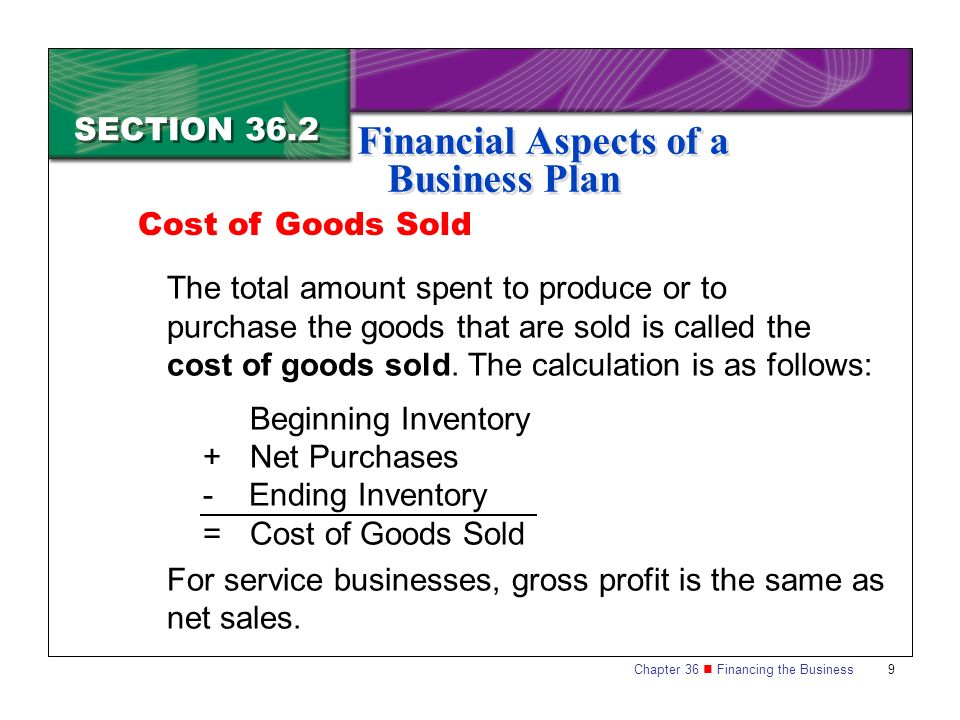 Financial Aspects Of Transactions