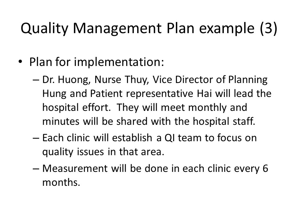 Quality Management Plan example (3)
