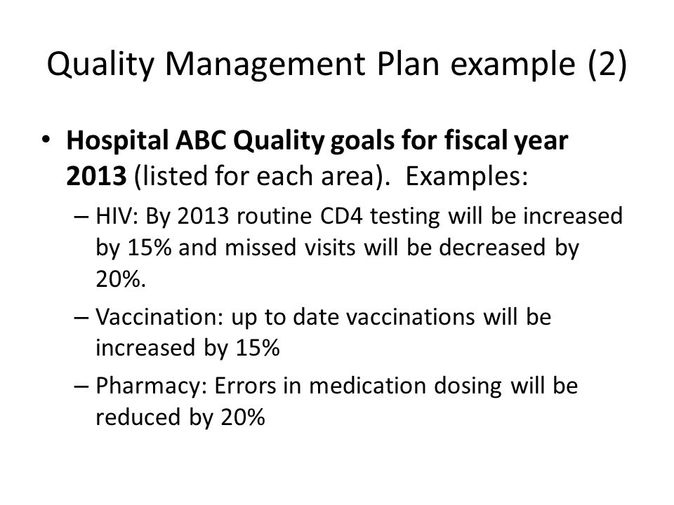 Quality Management Plan example (2)