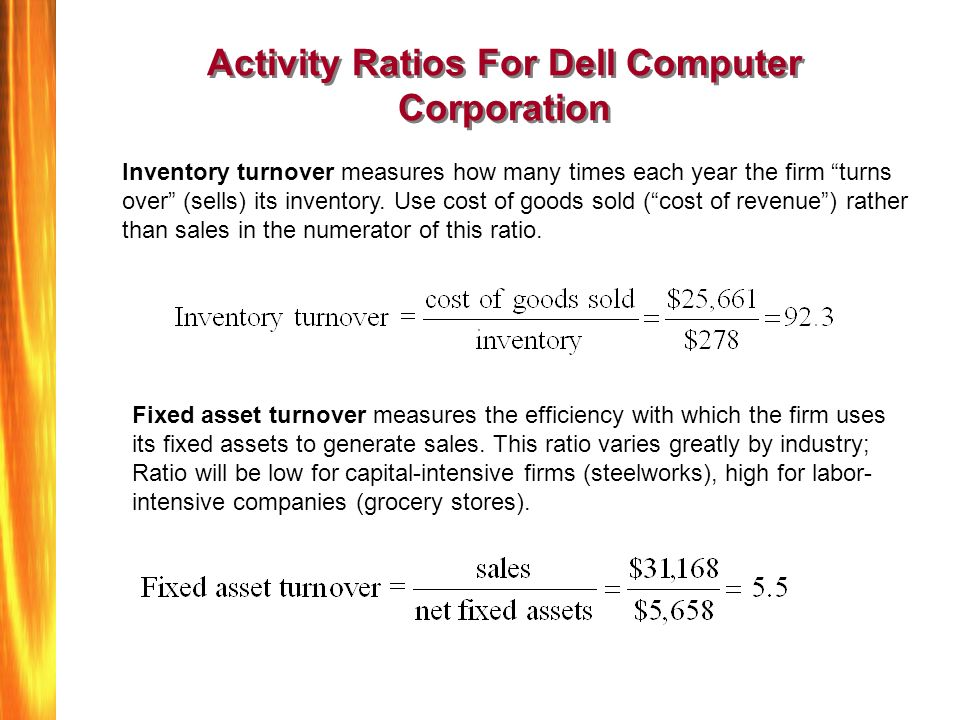 computer industry financial ratios Industry ratios can be found in firstresearch industry reports in financial   window in library only: accessible only at business library computer with smu  id.
