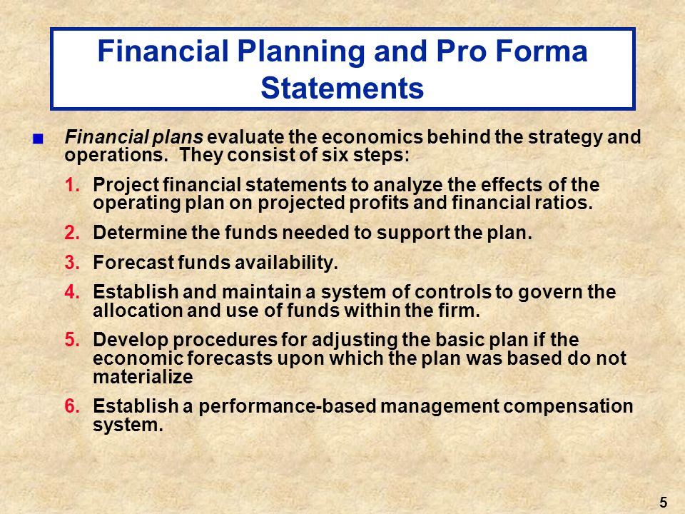 financial planning and forecasting pdf