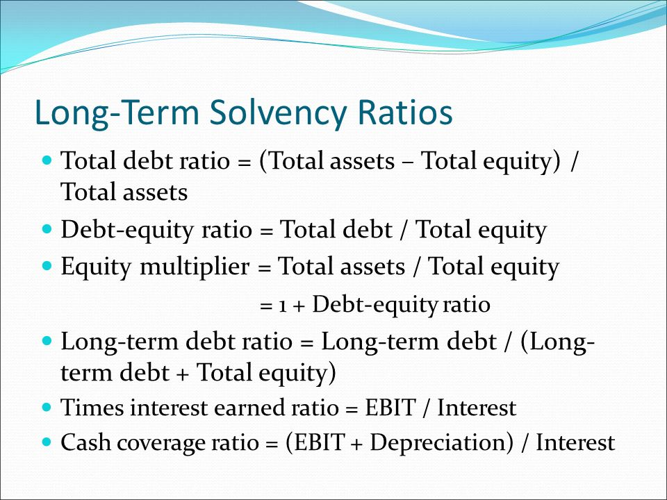 riordan manufacturing solvency ratios times interest earned By the financial statements financial ratios can be term solvency of the firm unlike liquidity ratios that are times interest earned ratio.