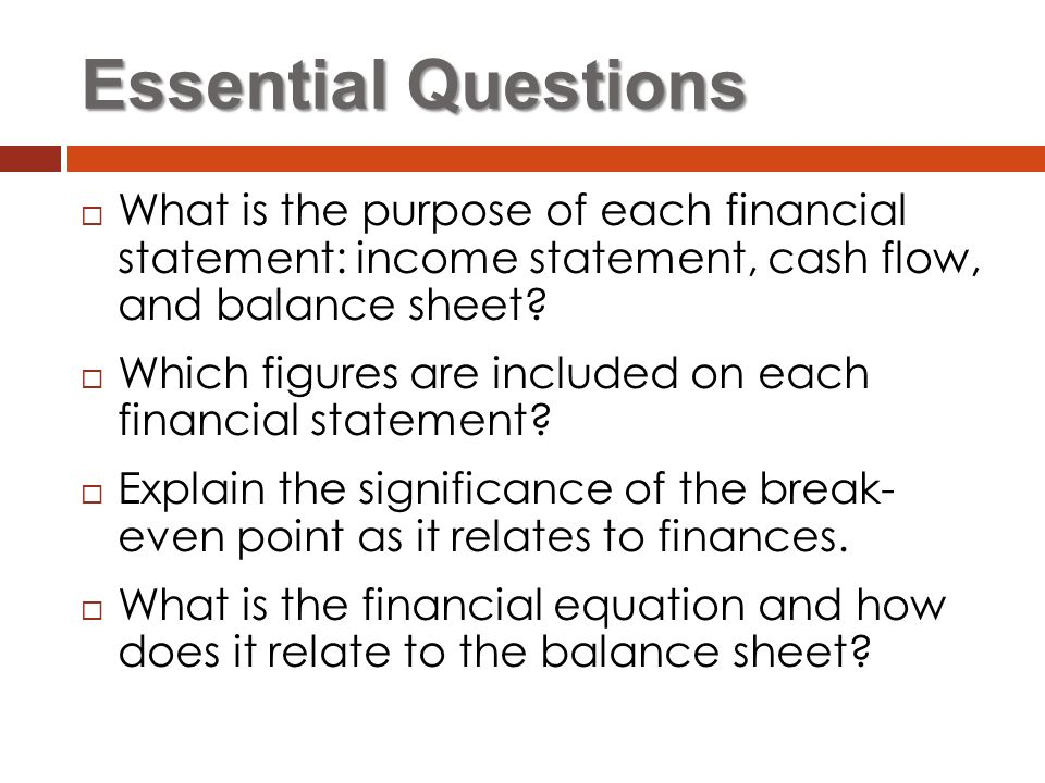 Financial Statements Business Management  Ppt Video Online Download