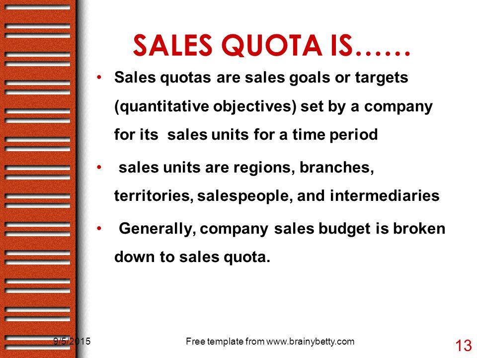 sales budget  u0026 sales quota