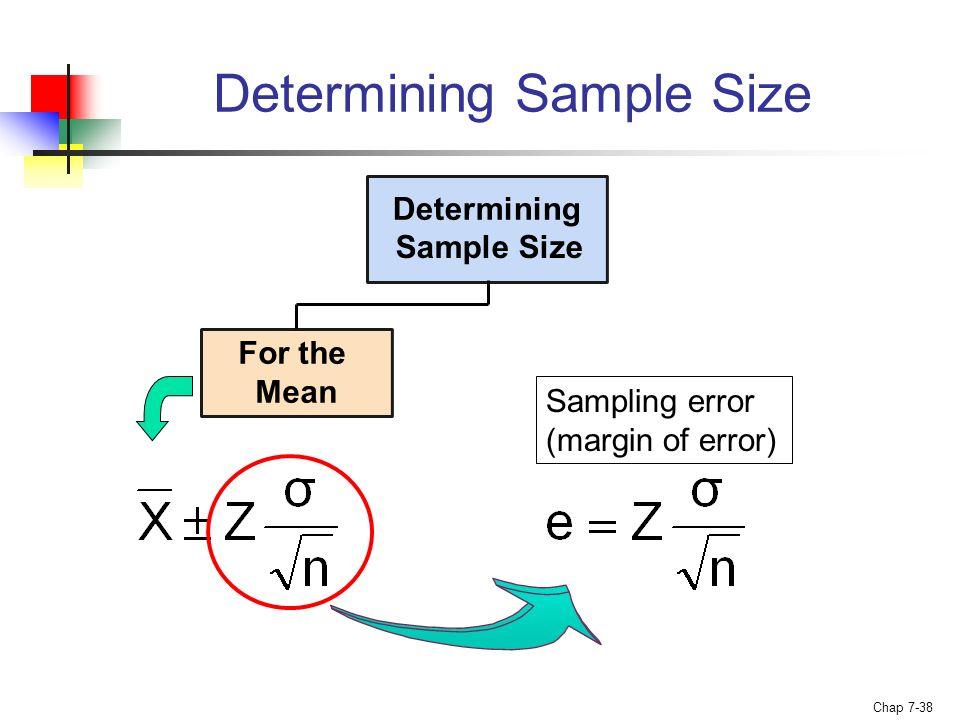 how to get margin of error