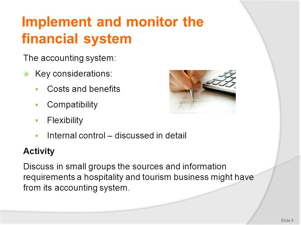 Financial Monitoring System : Maintain financial standards and records ppt download