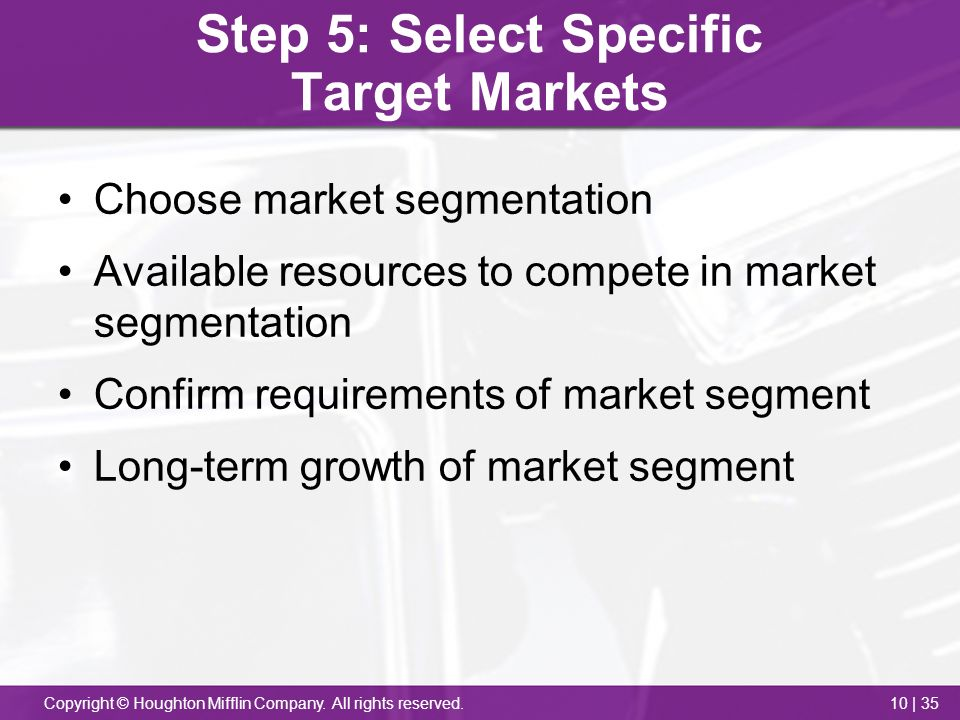 microsoft segmentation target positioning Market segmentation, targeting and positioning market segmentation introduction: - the market for any product is normally made up of several segments.